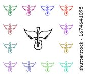 rock  guitar  wings multi color ...