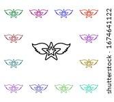 rock  star  wings multi color...