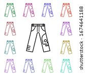 rock  pants  skull multi color...
