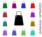 eco bag multi color style icon. ...