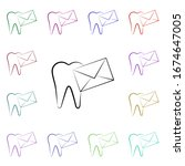 letter  tooth  send multi color ...