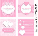 valentines day card background | Shutterstock .eps vector #167465855