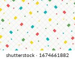 abstract square pattern of... | Shutterstock .eps vector #1674661882
