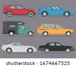 cartoon car icon vector logo... | Shutterstock .eps vector #1674667525