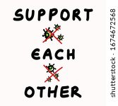 support each other corona... | Shutterstock .eps vector #1674672568