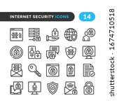 internet security line icons.... | Shutterstock .eps vector #1674710518
