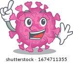 one finger corona virus organic ... | Shutterstock .eps vector #1674711355