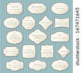 vintage frame set. calligraphic ... | Shutterstock .eps vector #167471645