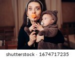 Funny Mother With Party...