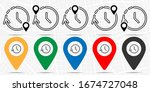 time left icon in location set. ...