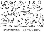 hand drawn arrow vector icons... | Shutterstock .eps vector #1674731092