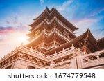 Ancient buildings of Daming Lake in Jinan