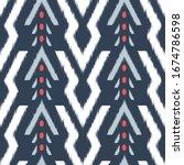 ikat seamless pattern design... | Shutterstock .eps vector #1674786598