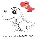 education numbers game. dot to... | Shutterstock .eps vector #1674791608