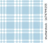blue gingham seamless pattern.... | Shutterstock .eps vector #1674799255
