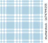 blue gingham seamless pattern.... | Shutterstock .eps vector #1674799255