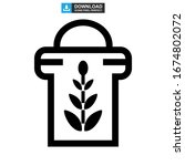 barley icon or logo isolated... | Shutterstock .eps vector #1674802072