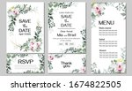 floral template for a wedding...   Shutterstock .eps vector #1674822505