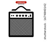 amplifier icon or logo isolated ...