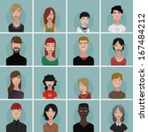 avatar set with people of... | Shutterstock .eps vector #167484212