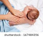 masseuse massaging 5 months... | Shutterstock . vector #167484356