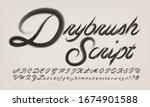 drybrush script calligraphic...   Shutterstock .eps vector #1674901588