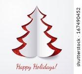 vector white paper christmas... | Shutterstock .eps vector #167490452