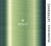 green metallic metal polished... | Shutterstock .eps vector #1674906442