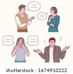 the man and the woman are...   Shutterstock .eps vector #1674910222