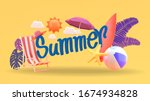 summer vector banner design... | Shutterstock .eps vector #1674934828