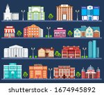 hotel building in city space... | Shutterstock .eps vector #1674945892