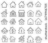 house icon set. house vector... | Shutterstock .eps vector #1674946705
