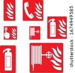 Fire Extinguisher Symbol And...