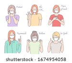 collection of female her... | Shutterstock .eps vector #1674954058