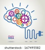 creative brain idea concept... | Shutterstock .eps vector #167495582