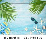 Summer Holiday Background With...