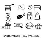 shopping icons set.symbols for...
