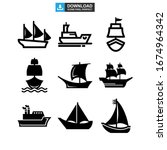 Ship Icon Or Logo Isolated Sign ...
