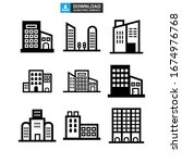 corporate building icon or logo ... | Shutterstock .eps vector #1674976768
