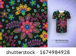 seamless floral background....   Shutterstock .eps vector #1674984928