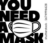 you need a mask flat vector... | Shutterstock .eps vector #1674996628