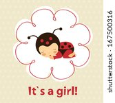 Baby Girl Announcement Card...