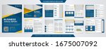 abstract brochure template with ... | Shutterstock .eps vector #1675007092