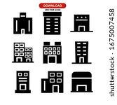hotel building icon or logo... | Shutterstock .eps vector #1675007458