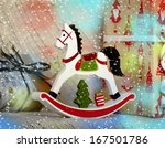 christmas composition with... | Shutterstock . vector #167501786