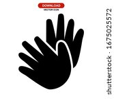 hand icon or logo isolated sign ...   Shutterstock .eps vector #1675025572