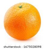 Ripe Orange Fruits Isolated On...
