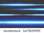 blue white glowing led light... | Shutterstock .eps vector #1675029955