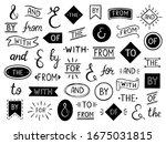 vintage lettering ampersand and ... | Shutterstock . vector #1675031815