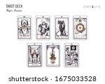 tarot card deck.  major arcana...   Shutterstock .eps vector #1675033528